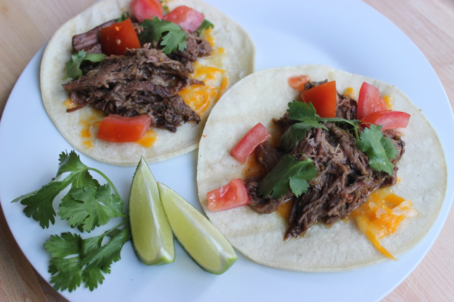 Three Ingredient Crockpot Taco Plate