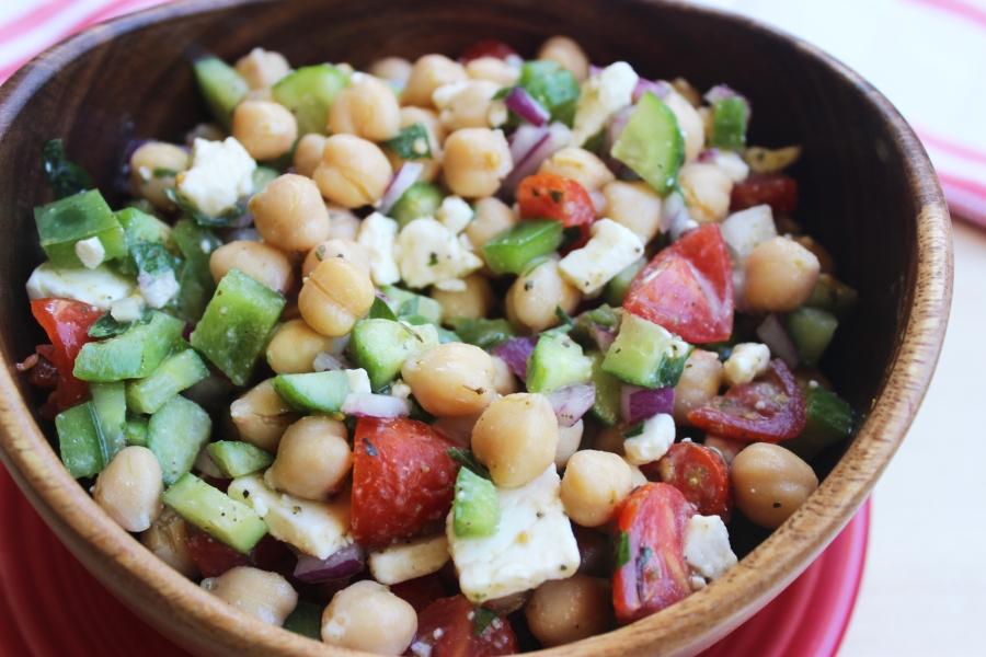 Garbanzo Bean and Veggie Chop Salad