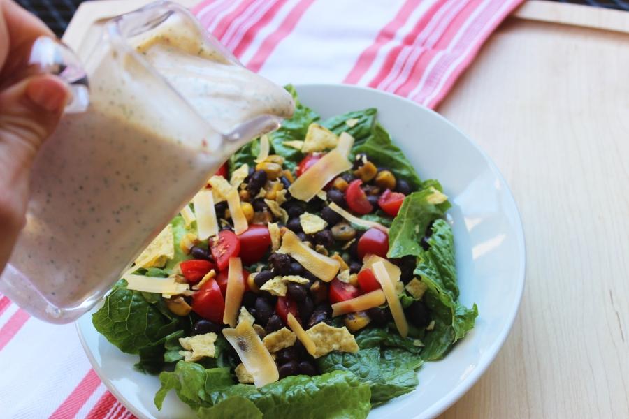Chipoltle Dressing over salad