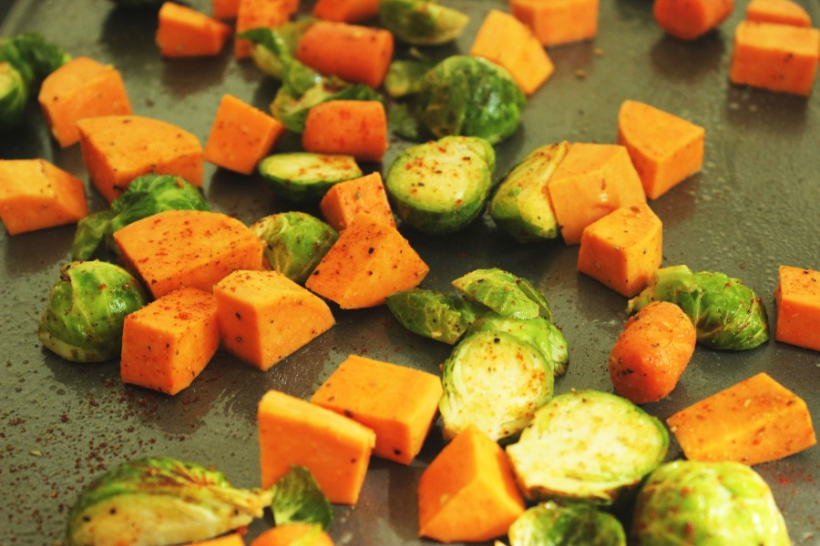 before-roasting-sweet-potatoes-and-brussel-sprouts
