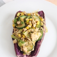 Zucchini and Turkey Loaded Sweet Potato