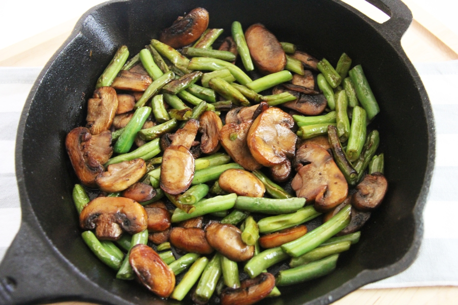 mushrooms-and-green-beans
