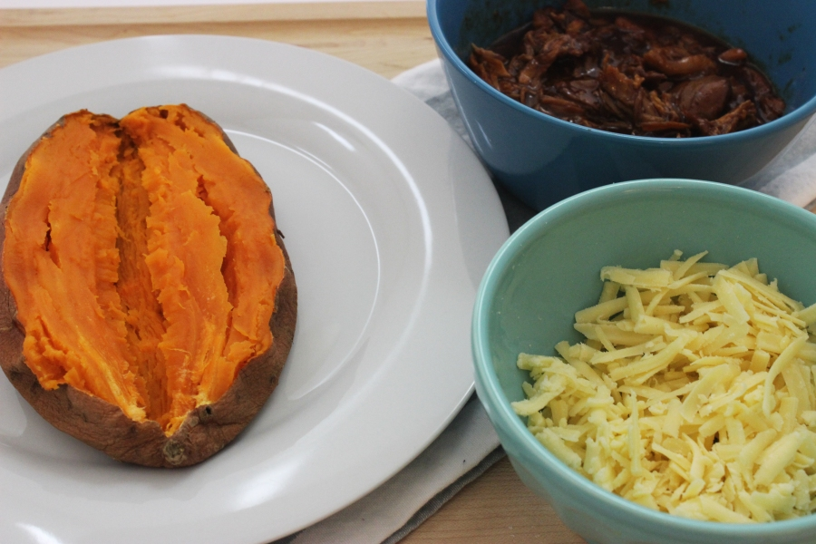 Chipotle bbq chicken sweet potato